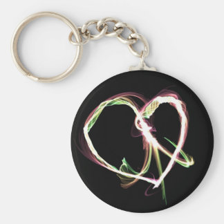 Peace and Love black Keychain
