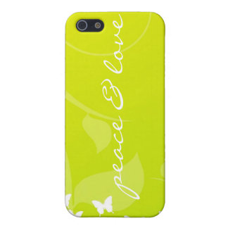Peace And Love Butterfly  iPhone SE/5/5s Cover
