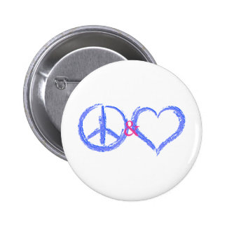 Peace and Love Button