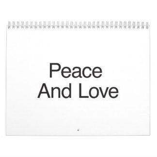 Peace And Love Wall Calendars