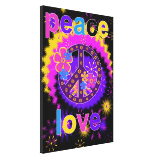 Peace and Love Canvas Print