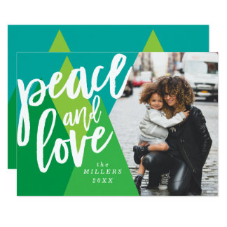 Peace and Love Christmas Photo Card, Holiday Card