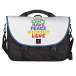 Peace and Love Computer Bag