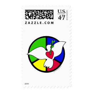 Peace and Love Dove Postage