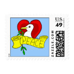 Peace and Love Dove Postage Stamps