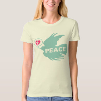 Peace and Love Dove T Shirt