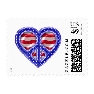 Peace and Love-FLAG Postage