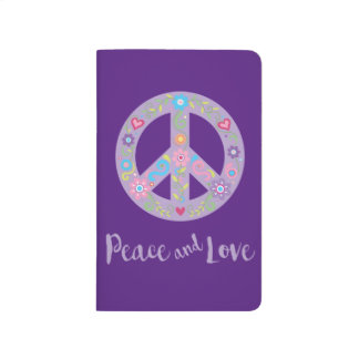 Peace and Love Floral Peace Sign Journal
