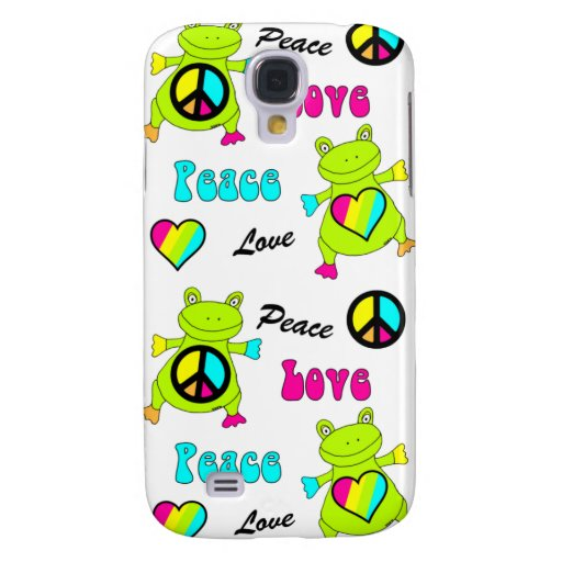 Peace and Love Frogs Samsung Galaxy S4 Cases