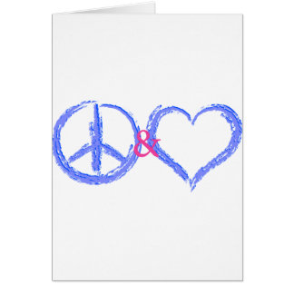 Peace and Love Greeting Card