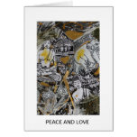 Peace and Love Greetings Greeting Card
