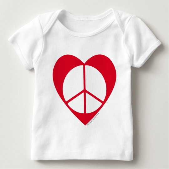 Peace and Love Heart Baby T-Shirt