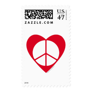 Peace and Love Heart Postage