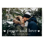 Peace and Love | Holiday Photo Card