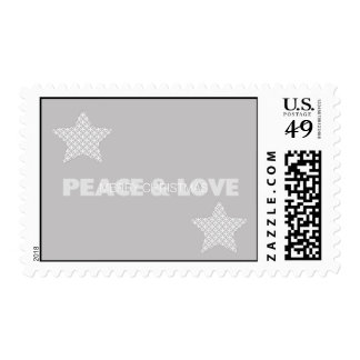 Peace and Love Holiday Postage