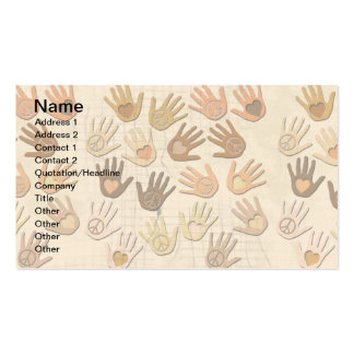 PEACE AND LOVE IN HANDS Double-Sided STANDARD BUSINESS CARDS (Pack OF 100)