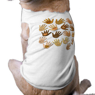 PEACE AND LOVE IN HANDS PET SHIRT