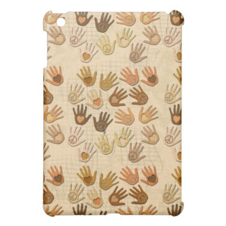 PEACE AND LOVE IN HANDS iPad MINI CASES