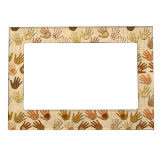 PEACE AND LOVE IN HANDS MAGNETIC PHOTO FRAME
