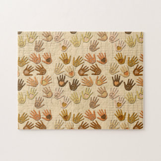PEACE AND LOVE IN HANDS JIGSAW PUZZLES