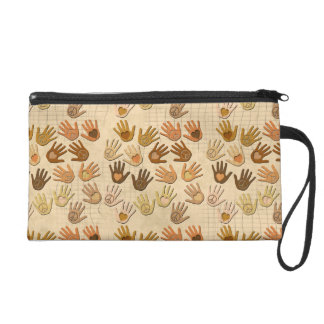 PEACE AND LOVE IN HANDS WRISTLET