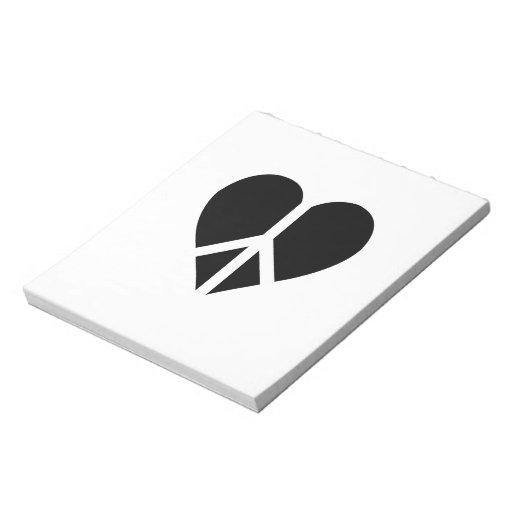 Peace and love in one heart memo pad
