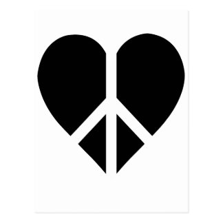 Peace and love in one heart postcard