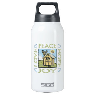 Peace and Love Insulated Water Bottle