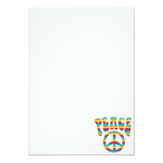 Peace and Love! 5x7 Paper Invitation Card