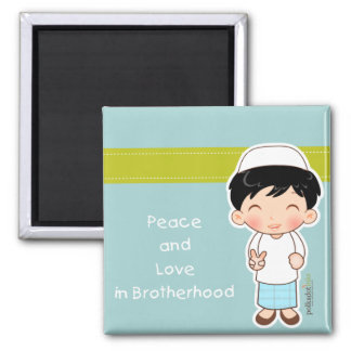 Peace and Love Magnet
