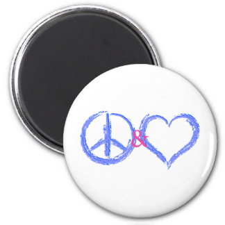 Peace and Love Fridge Magnets
