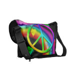 Peace and Love Messenger Bag