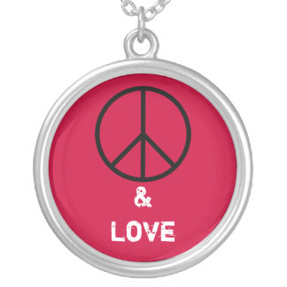 Peace and Love Necklace (Red)