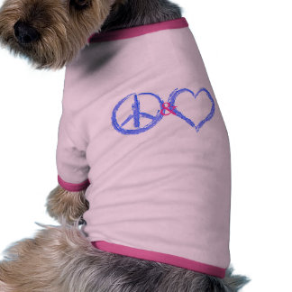 Peace and Love Pet T-shirt