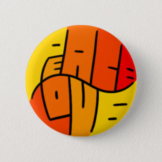 Peace and Love Pinback Button