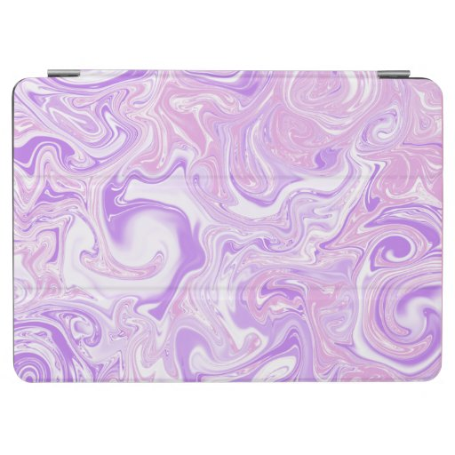 Peace and Love pink and lavender abstract art iPad Air Cover