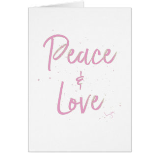 PEace-and-Love-Pink Card