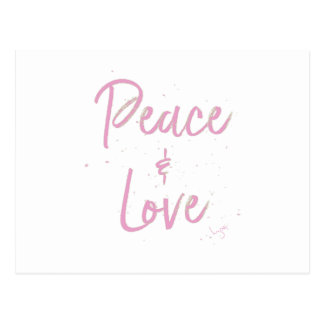 PEace-and-Love-Pink Postcard