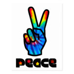 Peace and Love Post Card