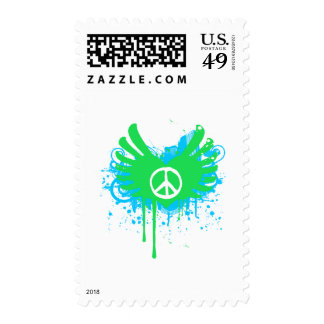Peace And Love Postage