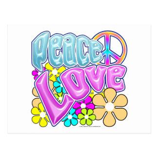 Peace And Love Postcard