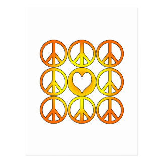 Peace and Love Postcard
