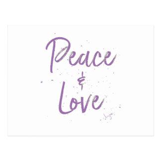PEACE-and-Love-Purple Postcard