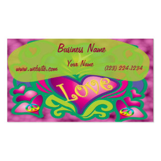 Peace and Love Retro Style Business Cards