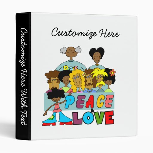 Peace and Love T-shirts and Gifts Binders