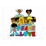 Peace and Love T-shirts and Gifts Postcard