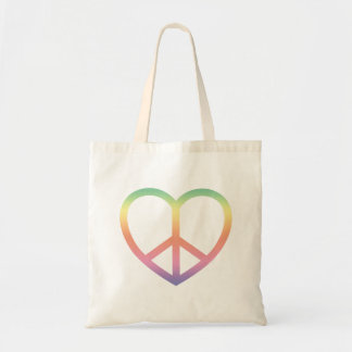 Peace and Love Tote Bag