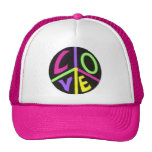 Peace and Love Trucker Hat
