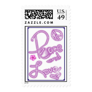Peace and Love US Postage Stamps
