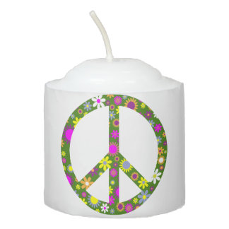 Peace and Love Votive Candle